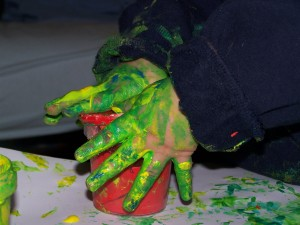It's like fingerpainting, but less goopy.