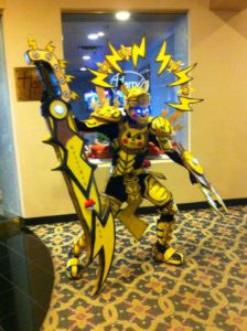 charity cosplay pokemon pikachu monster hunter