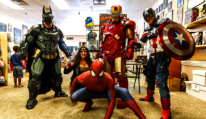 charity cosplay marvel dc avengers justice league spider-man iron man batman wonder woman captain america