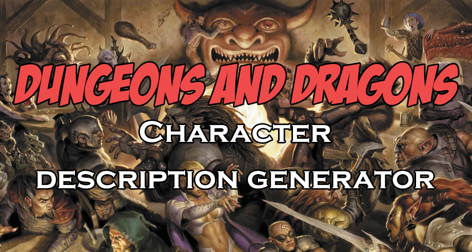 dungeons and dragons character generator dnd fifth edition 5e